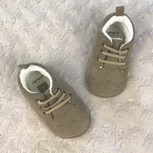 Carter's Baby Boy Wingtip Shoes Size 2 Tan